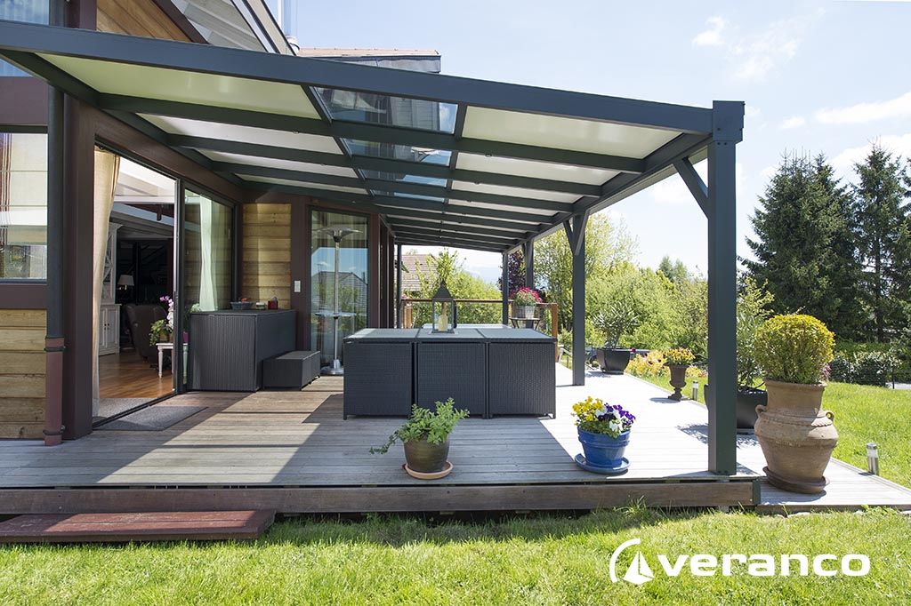 Pergola volutive for Toiture bioclimatique